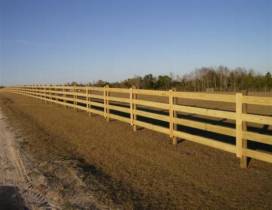 Wood Rail Fences Designs Our Fences Livestock And