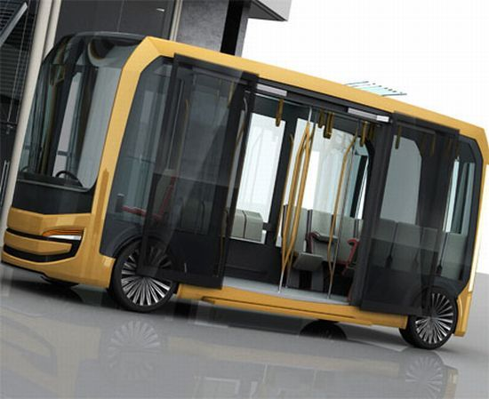 Eolo Urban Transportation Bus concept doubles as an air purifier on road