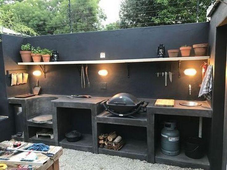34 Stunning Outdoor Kitchen Design Ideas For Perfect Summer In 2020 Outdoor Kitchen Decor Outdoor Kitchen Design Outdoor Kitchen Bars
