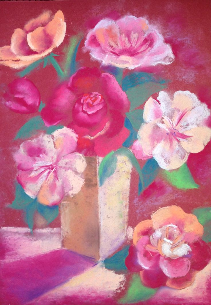 "Still Life ""Vase with Peonies"", pastel, 2015 - pastel crayon chalk - Still Life Art - Pastel drawing  - floral art -  living room decor by MasterMommy on Etsy https://www.etsy.com/listing/247267538/still-life-vase-with-peonies-pastel-2015"