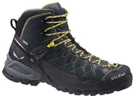 Salewa Men's Alp Trainer Mid GTX Hiking Boots Carbon/Ringlo 11.5