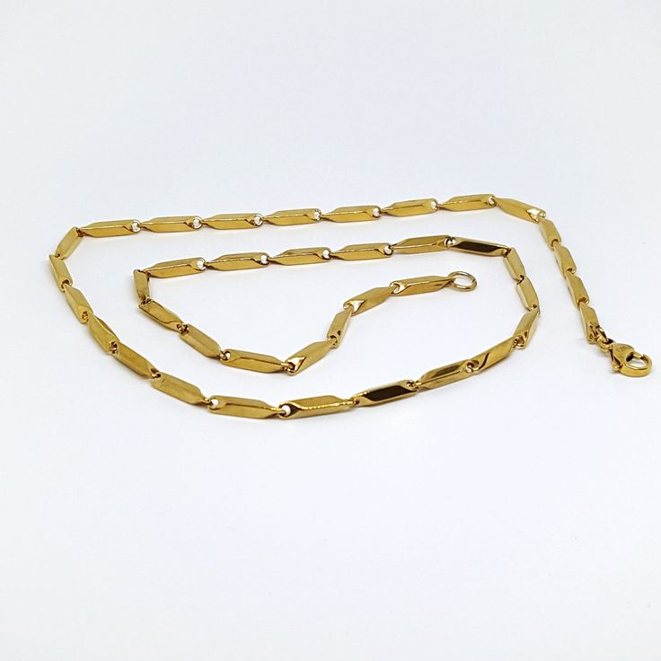4-3187-g5 Gold Plated over Stainless Steel Chain.