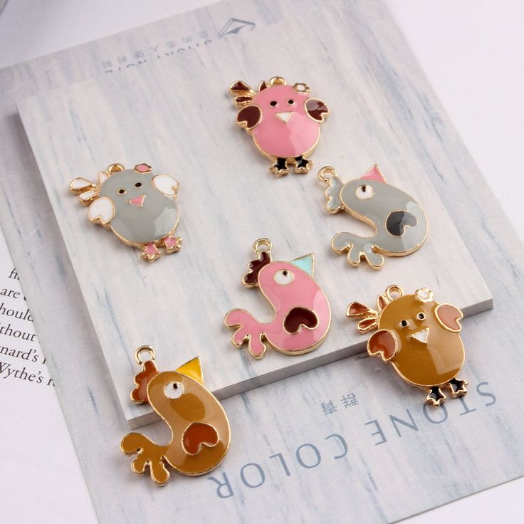 ==> [Free Shipping] Buy Best Wholesale Price Kawaii Animal chick Pendant Charms DIY Jewelry Findings Enamel Alloy Trendy Necklace Bracelet Ornament Accessory Online with LOWEST Price | 32808343137