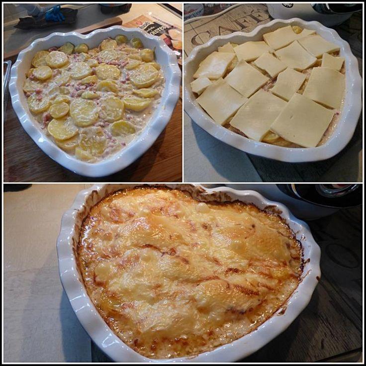 Tartiflette au fromage raclette version avec Cookéo