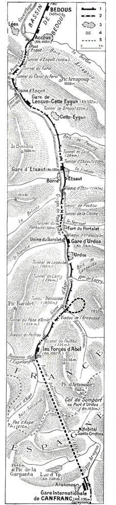 Plano de la parte francesa de la linea
