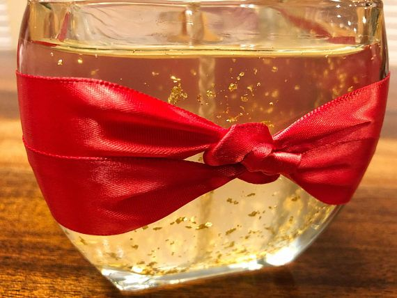 Clear Wax Fancy Candle Gold Candle Valentines Candle