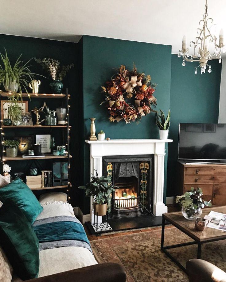 Blue Jade Valspar Dark Green Living Room Dark Living