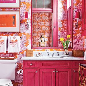 Best 25 orange bathroom paint ideas on pinterest diy for Pink and orange bathroom ideas