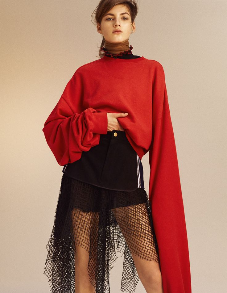 visual optimism; fashion editorials, shows, campaigns & more!: schicht um schicht: alexandra hochguertel, bhumika arora, valery kaufman and ysaunny brito by benjamin lennox for interview germany february 2015
