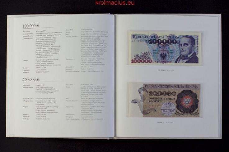"""Album: """"Polskie banknoty obiegowe z lat 1975-1996"""" Sklep Numizmatyczny ul. Króla Maciusia 12, 04-526 Warszawa"""