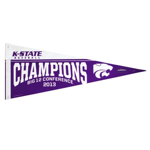 Kansas State Wildcats 2013 Big 12 Baseball Champs Pennant - Purple - $5.99
