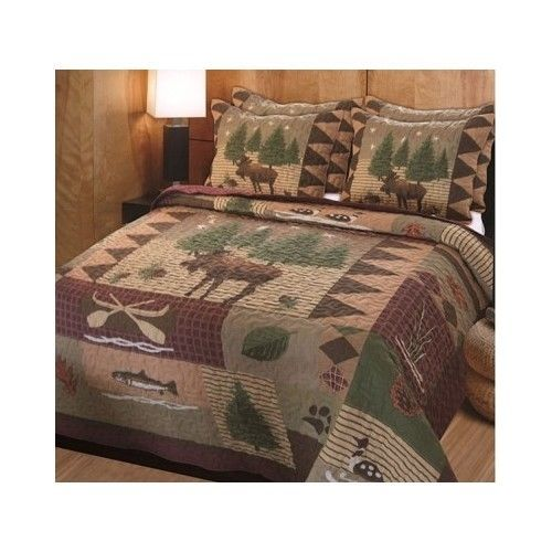 Rustic Bedding Set Comforter Bed Sham Country Home Log Cabin Quilt Lodge Full   #Comforter #Rustic