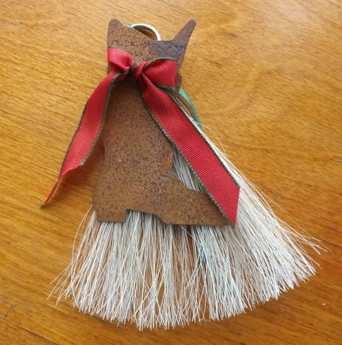 Horse Hair Handmade Christmas Ornaments Boot