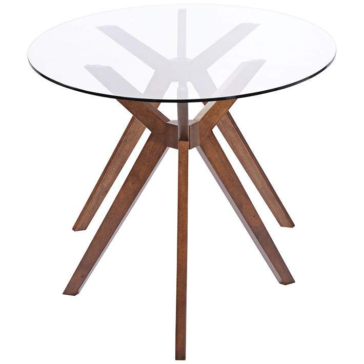Zuo Buena Vista Mid Century Oval Glass Dining Table