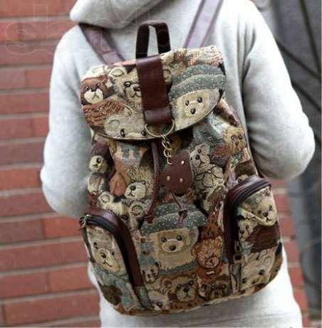 Женский рюкзак с мишками Teddy Bear. Новый. Харьков - изображение 1