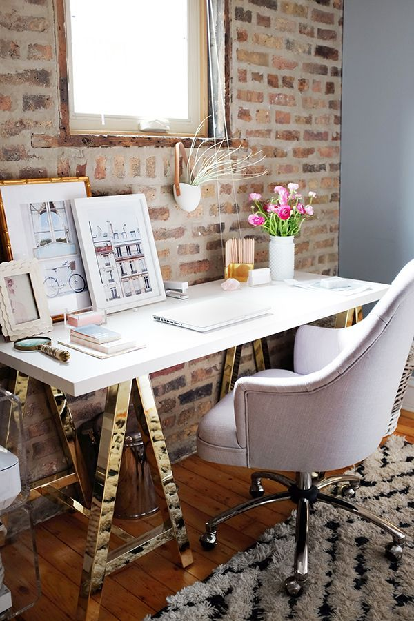 simple office setup — Alaina Kaczmarski