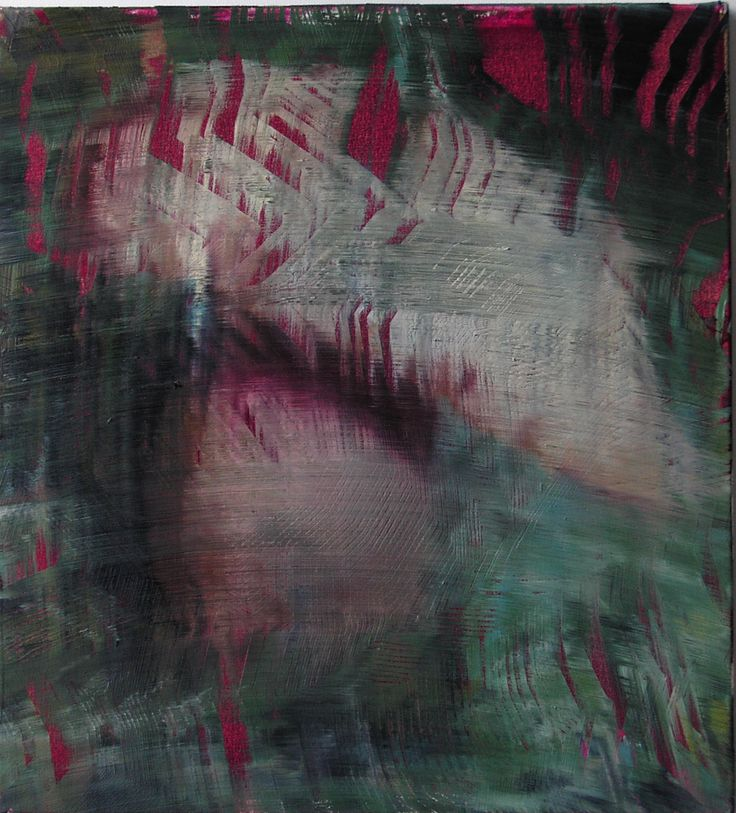 James Cousins, Magenta, 2009, oil and acrylic on canvas, 555 x 505 mm