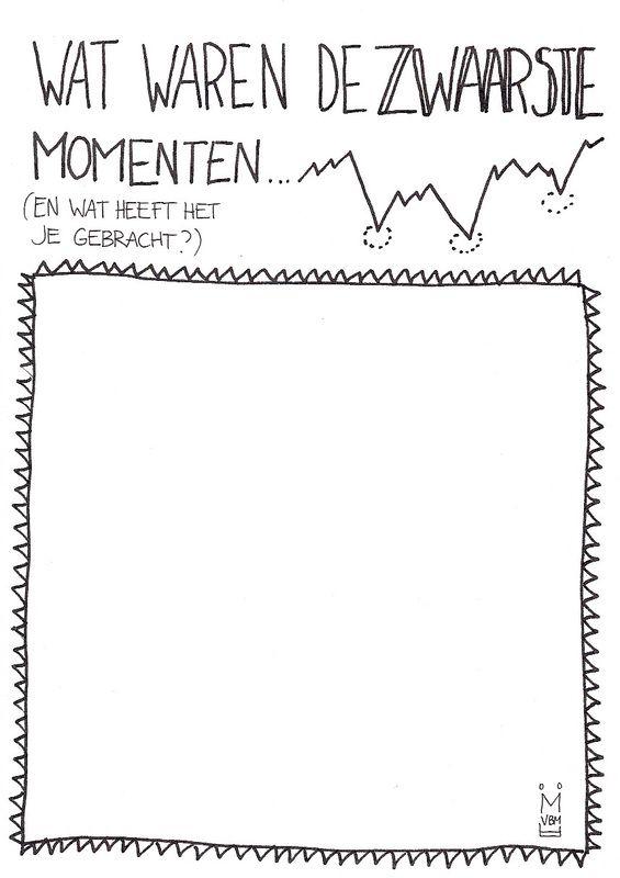 Dag 6: #mijnlijstje voor vandaag: wat waren de zwaarste momenten? (en wat heeft het je gebracht?) http://www.marjoleintekent.nl/tekenblog/zware-momenten