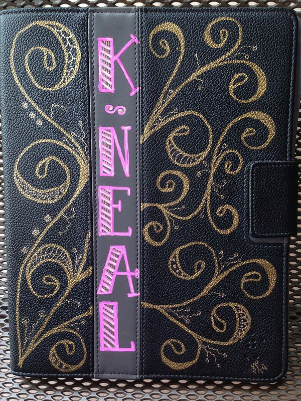 Katherine S Ipad Cover Pink Is Sharpie Pink Rose Oil