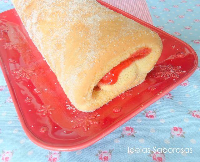 Ideias Saborosas: Torta com recheio de Doce de Morango