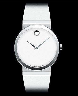 Movado Watch, Women's Swiss White Rubber Strap 34mm 0606270 - Women's Watches - Jewelry & Watches - Macy's