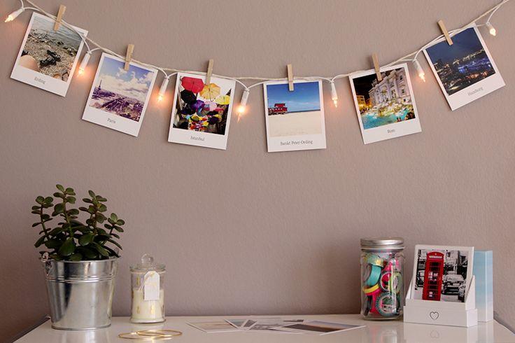 10 DIY Ideen: Polaroid Wanddeko Lichterkette (kartenmacherei #momentsinabox)
