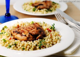 Ooh, Look...: Ottolenghi's Chargrilled Chicken with Mograbiah