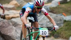 Catharine Pendrel won bronze in the women's cross-country mountain bike for…