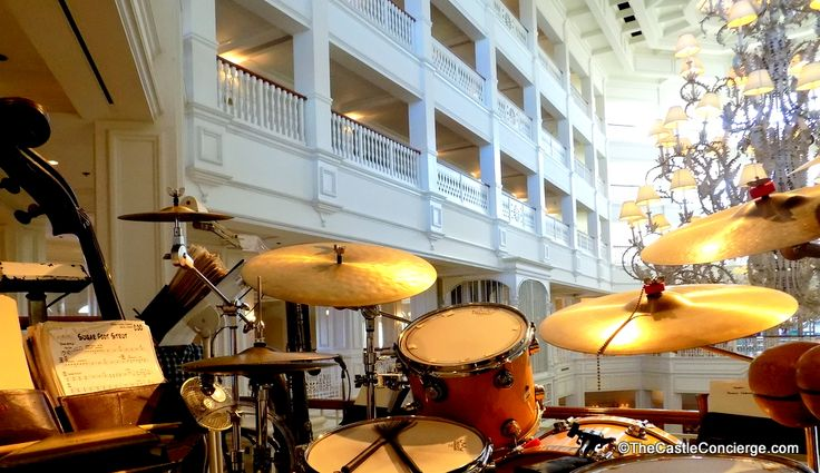 Listen to the Grand Floridian Society Orchestra play their ragtime, Dixie, and jazz music during evening performances at Walt Disney World's GF Resort.