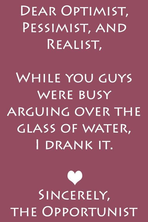 Realist physicist pessimist optimist Are You