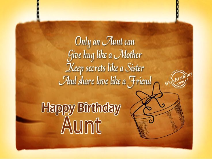 Birthday Wishes For Aunt - Birthday Images, Pictures