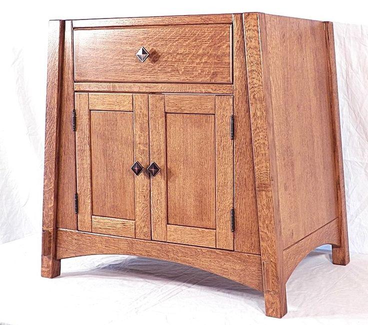 Amish Mccoy Bathroom Vanity Sink Cabinet Mission Quarter Sawn Oak 22 Color  Choic