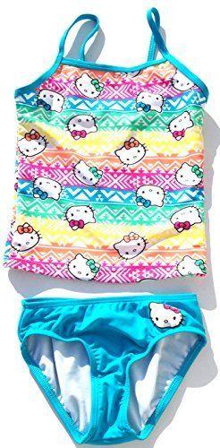 Hello Kitty Tankini 2 Piece Swimsuit Girls Small 6/6X //Price: $47 & FREE Shipping // World of Hello Kitty https://worldofhellokitty.com/product/hello-kitty-tankini-2-piece-swimsuit-girls-small-66x/    #giftshop