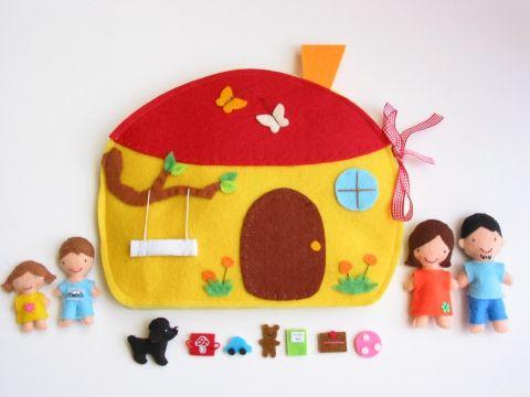 Családi házikó játszókönyvecske- hasonló rendelhető, Baba-mama-gyerek, Játék…