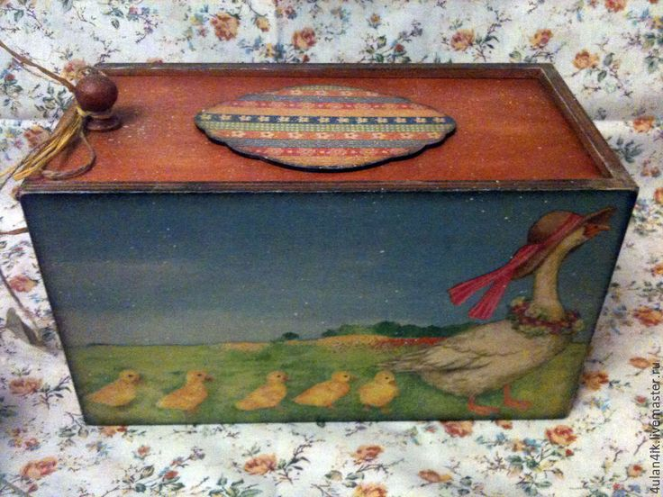 "Купить Короб ""Матушка Гусыня"" - рыжий, короб для хранения, короб, короб для кухни, коробочка для подарка"