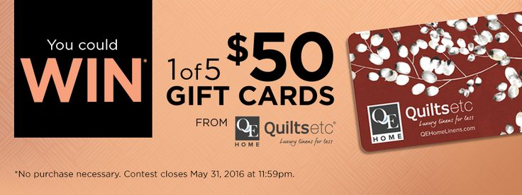 Pickering Town Centre Contest: Win 1 of 5 $50 Quiltsetc gift cards (ON)