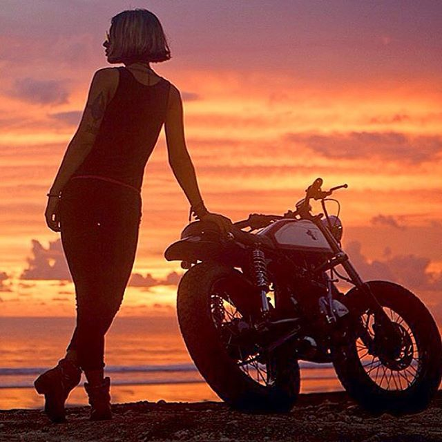Return of the CafeRacers (@returnofthecaferacers) | Awesome shot from @vervemoto of VIC and he GL. #motorcycles #custom #girlrider #caferacer #vervemoto #custommotorcycle #customlife #bali #indonesia | Intagme - The Best Instagram Widget