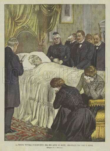 Queen Victoria on death bed