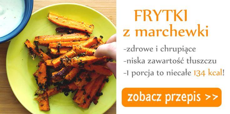 Frytki z marchewki - czyli doskonała alternatywa dla tłustych i tuczących frytek! Są lekkie, chrupiące i przepyszne, a przygotowanie ich zajmie Ci zaledwie