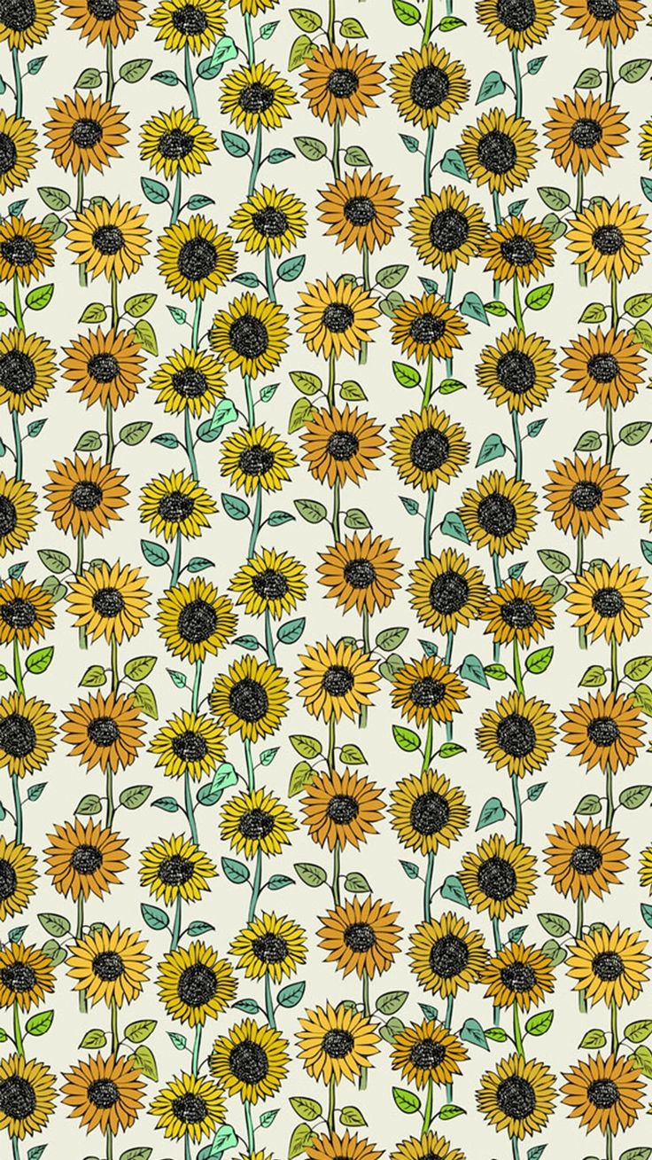 These sunflower are created as a juxtaposition--the sunflowers are all different but somehow create a pattern.