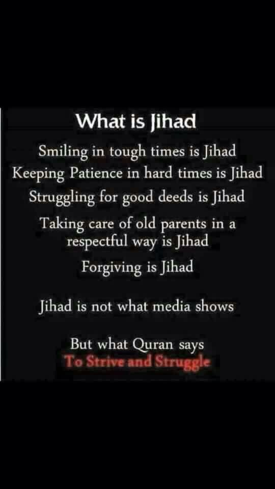 Biggest jihad is fight with our inner self