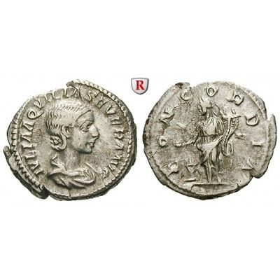 Römische Kaiserzeit, Aquilia Severa, Frau des Elagabal, Denar 220, ss-vz/ss: Aquilia Severa, Frau des Elagabal 220-222. Denar 20 mm… #coins