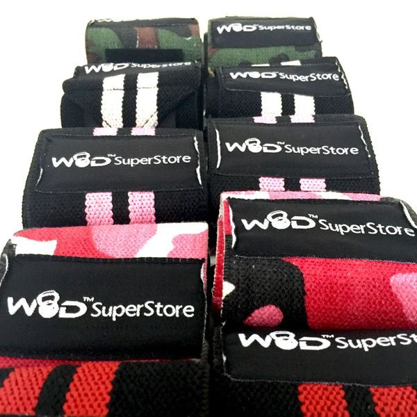 WOD SuperStore Wrist Wraps-Pro Series - Our Pro series wrist wraps are for the athlete who prefers a stiffer fabric weave for more support for your wrists.