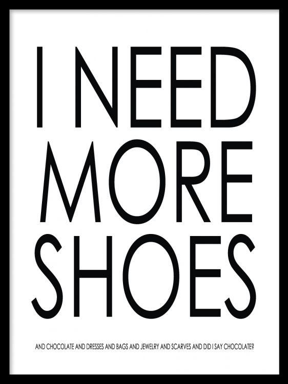 Texttavla, I need more shoes and chocolate