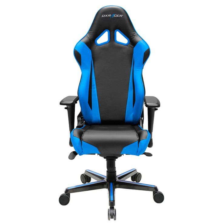 Dxracer Oh Rv001 Nb High Back Racing Style Office Chair Vinyl Pu Black Blue