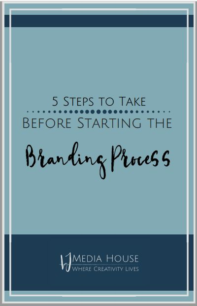Branding Process Workbook. Learn these 5 simple steps to take before starting the branding process.