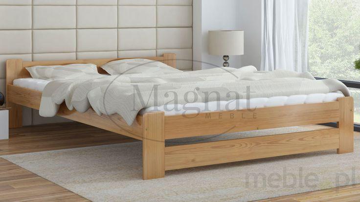 Łóżko drewniane Niwa 120x200, Magnat - producent mebli drewnianych i materacy - Meble