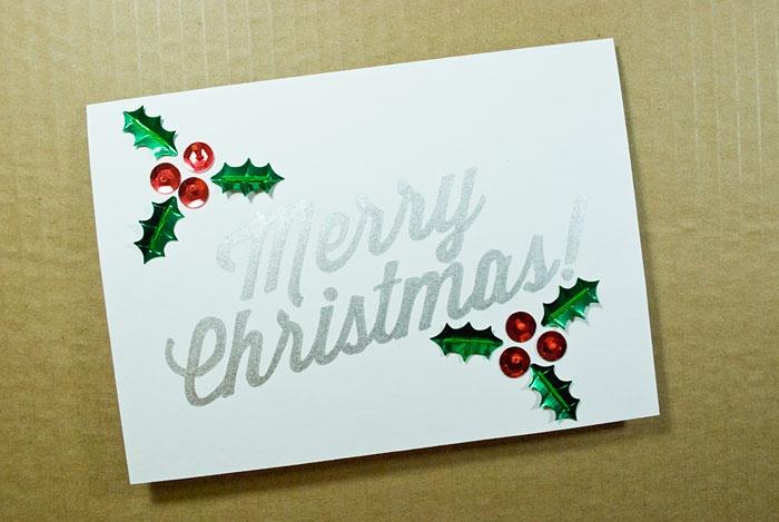 DIY handmade Christmas cards