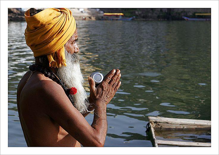 Omkareshwar. Río Narmada.