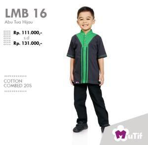 Baju Anak Little Mutif Boy LMB-16 Abu Tua